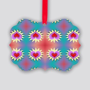Hearts Background Picture Ornament