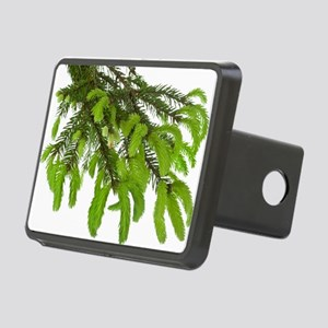 green tree branch with you Rectangular Hitch Cover