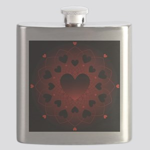 Hearts Radial Pattern Flask