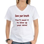 Save your breath Women's V-Neck T-Shirt