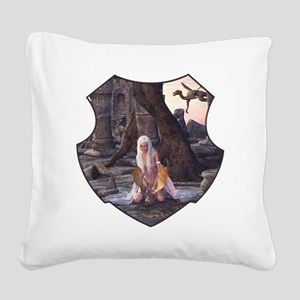 Dragon Lady Square Canvas Pillow
