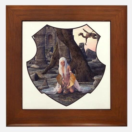 Dragon Lady Framed Tile