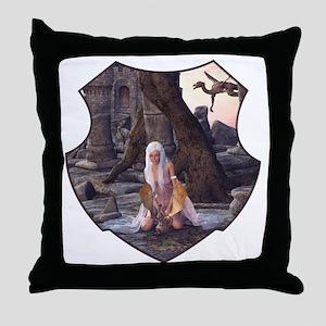 Dragon Lady Throw Pillow