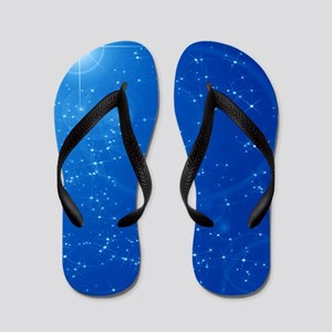 Peaceful Sky Filled With Stars Flip Flops