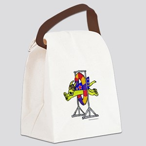 Super Doggie Jump Canvas Lunch Bag