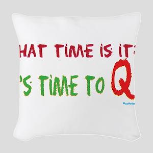 TimeToQ Woven Throw Pillow
