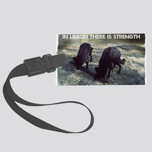Strength in Union Large Luggage Tag