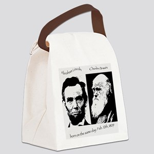 Abraham Lincoln & Charles Darwin Canvas Lunch Bag