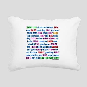 AgilityRUN Rectangular Canvas Pillow