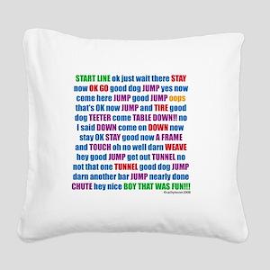 AgilityRUN Square Canvas Pillow