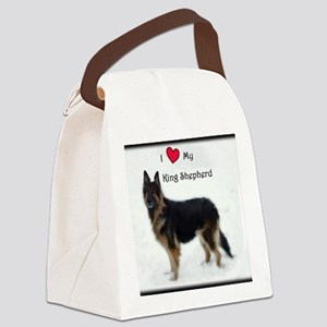 I heart my King Shepherd Canvas Lunch Bag