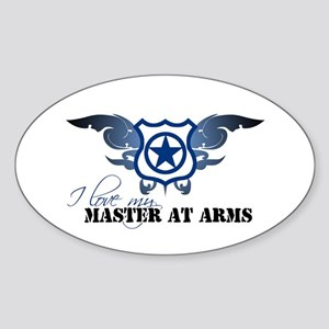 Master at Arms Oval Sticker