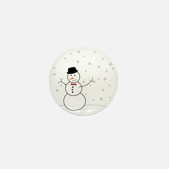 Snowman Illustration Mini Button