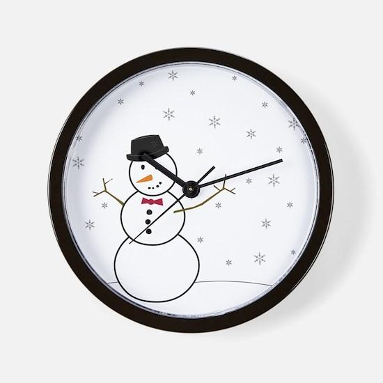 Snowman Illustration Wall Clock