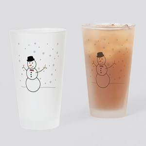 Snowman Illustration Drinking Glass