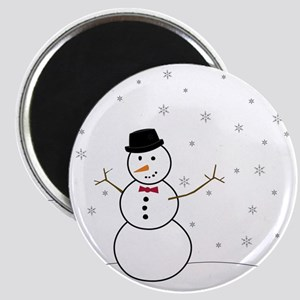 Snowman Illustration Magnet