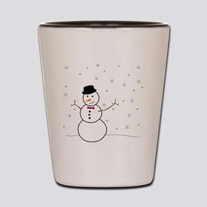 Snowman Illustration Shot Glass