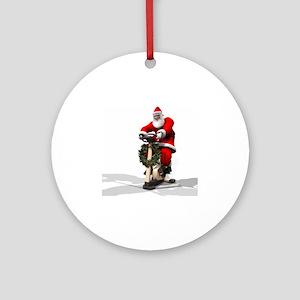Santa Fitness 2 Round Ornament