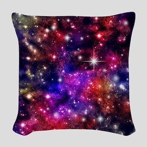 Star-field Woven Throw Pillow
