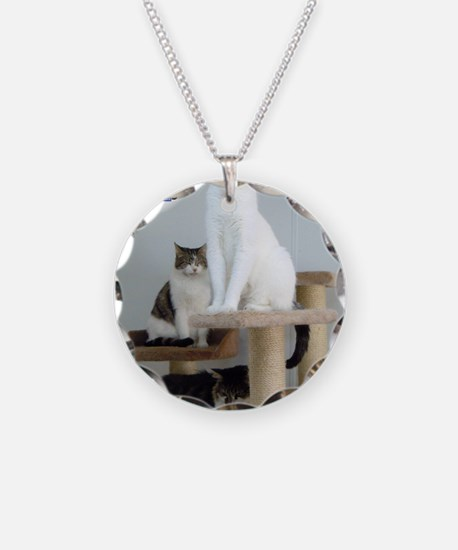 Cats on Pedestals Necklace