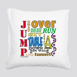 AgilityCommands Square Canvas Pillow