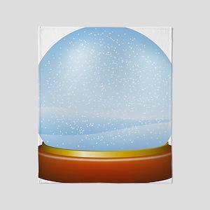 Snow globe with winter landscape Throw Blanket