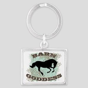 Barn Goddess Landscape Keychain