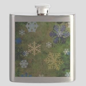 Snowflakes Design Flask