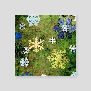"""Snowflakes Design Square Sticker 3"""" x 3"""""""
