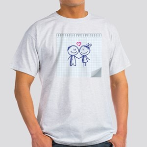valentine's day illustration Light T-Shirt