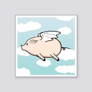 """When Pigs Fly Vector Square Sticker 3"""" x 3"""""""