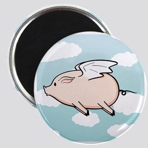 When Pigs Fly Vector Magnet