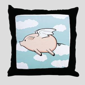 When Pigs Fly Vector Throw Pillow