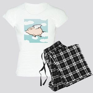 When Pigs Fly Vector Women's Light Pajamas