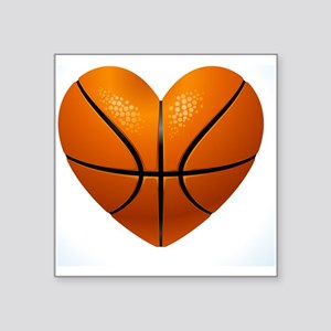 """Ball for basketball in the  Square Sticker 3"""" x 3"""""""