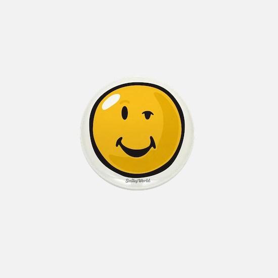 sarcasm smiley Mini Button