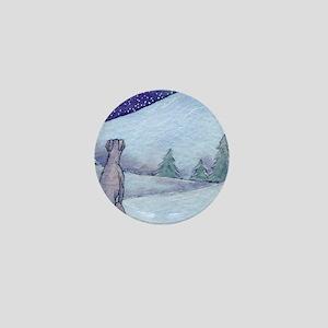 Greyhound whippet silent night Mini Button