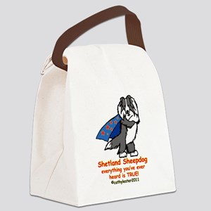 BlackSuperSheltie Canvas Lunch Bag