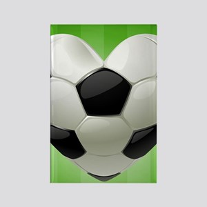 Ball for football in the shape of Rectangle Magnet