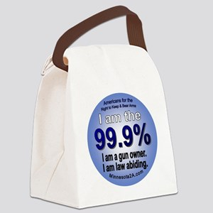 I am the  99.9% button - American Canvas Lunch Bag