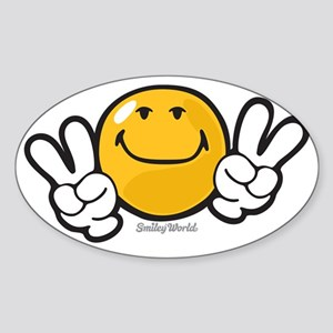 ambition smiley Sticker (Oval)