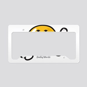 ambition smiley License Plate Holder