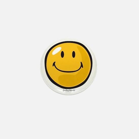 smug smiley Mini Button