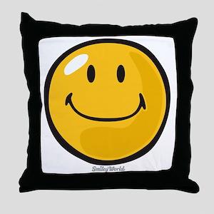 smug smiley Throw Pillow