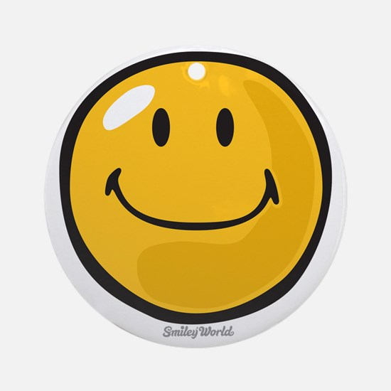smug smiley Round Ornament