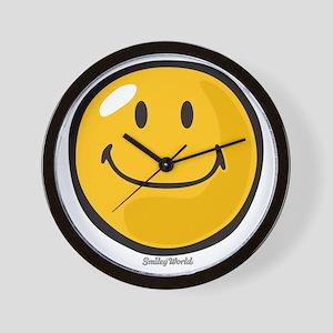smug smiley Wall Clock