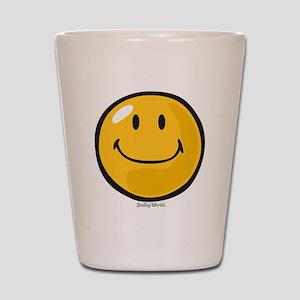 smug smiley Shot Glass