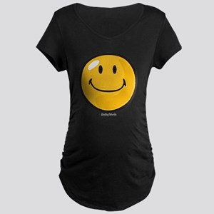 smug smiley Maternity Dark T-Shirt