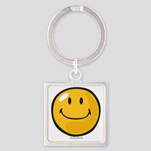 smug smiley Square Keychain
