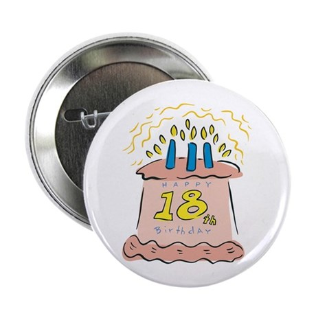 """Happy 18th Birthday 2.25"""" Button (100 pack)"""